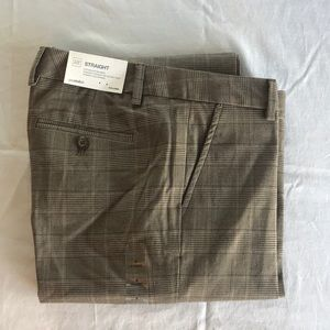 Gap Straight Plaid Trousers NWT